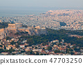 cityscape of Athens in early morning  47703250