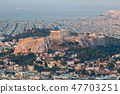 cityscape of Athens in early morning  47703251