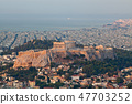 cityscape of Athens in early morning  47703252
