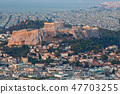 cityscape of Athens in early morning  47703255