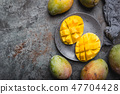 Mango. Tropical Fruits. 47704428