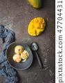 Homemade mango ice cream 47704431