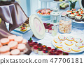 Buffet with a variety of delicious sweets, food ideas, celebration 47706181