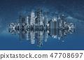 Futuristic modern buildings technology 47708697