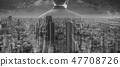 Double exposure businessman and Osaka cityscape  47708726