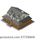 Cottage Isometric Vector 47708868