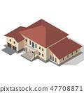 Cottage Isometric Vector 47708871