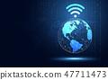 全球 连接 网络 47711473