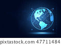 Futuristic earth abstract technology background 47711484