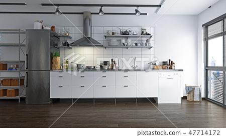 loft kitchen interior. 47714172