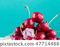 Fresh ripe cherries for background 47714466