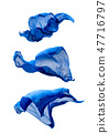 abstract blue fabric in motion 47716797
