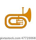 Isolated tuba icon 47720068