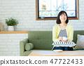 어머니 미들 여성 전업 주부 47722433