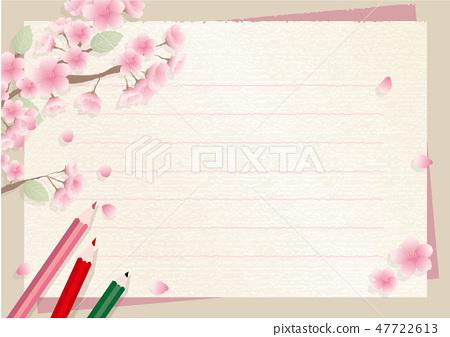 봄 편지지 프레임 47722613
