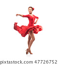 woman dancer wearing red dress 47726752