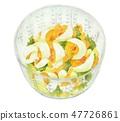 수채화 일러스트 계란 샐러드 47726861