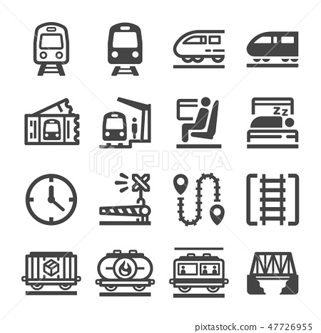 train icon set 47726955