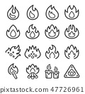 fire line icon set 47726961