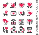 valentine icon set 47727030