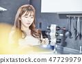 廚房,家庭主婦,年輕女子 47729979