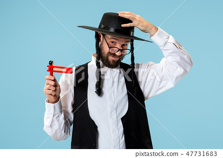 Portrait of a young orthodox Hasdim Jewish man with 47731683