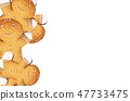 Gingerbread cookies background on white background 47733475