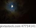 Moon eclipse in full moon. Super blue blood moon 47734141