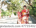 Girls visiting an adult ceremony 47735402