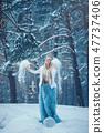 Winter Beauty Woman. Beautiful fashion model  47737406