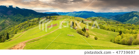 panorama of a beautiful countryside in mountains 47739697