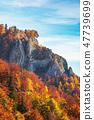 rocky cliff in autumn 47739699