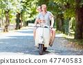 scooter, couple, bike 47740583