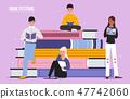 Book festival reading people illustration 47742060
