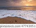 Beautiful tropical sunrise on the beach. 47743051