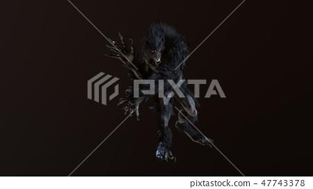 werewolf 3d render 47743378