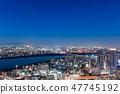 도시 풍경 오사카의 야경 47745192