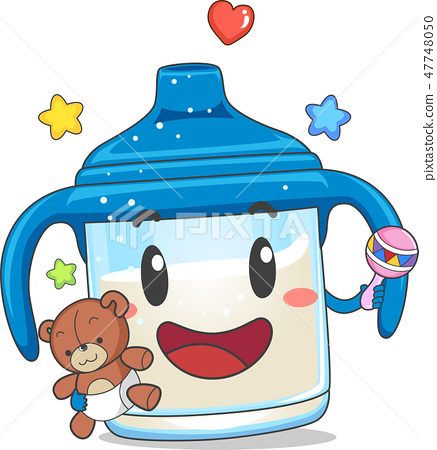 Toddler Sippy Cup Mascot Illustration 47748050