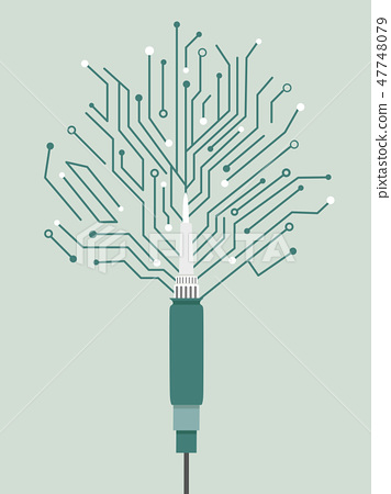 Soldering Iron Illustration 47748079