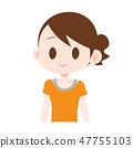 运动服的女性女性橙色微笑 47755103