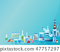 Medicine laboratory concept background with equipment and bottles. Color vector illustration in 47757297
