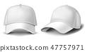 Baseball cap isolated on white background. 47757971