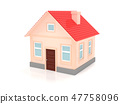 House. 3d render illustration isolated 47758096