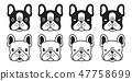 개, 강아지, 벡터 47758699