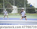Two female tennis players 47766739