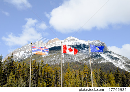 Winter Canadian · Rocky · Provincial border of Alberta and British Columbia 47766925