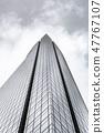 Glass skyscraper in financial district of Madrid 47767107
