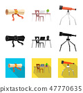 Isolated object of education and learning icon. Collection of education and school vector icon for 47770635