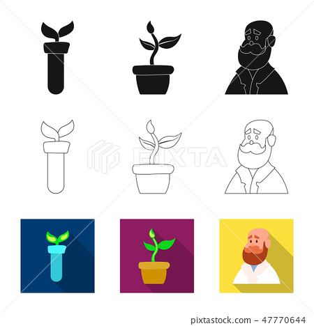 Vector design of genetic and plant icon. Collection of genetic and biotechnology stock symbol for 47770644