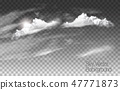 Clouds vector on transparent background. 47771873
